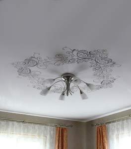 Глянцевые потолоки фото