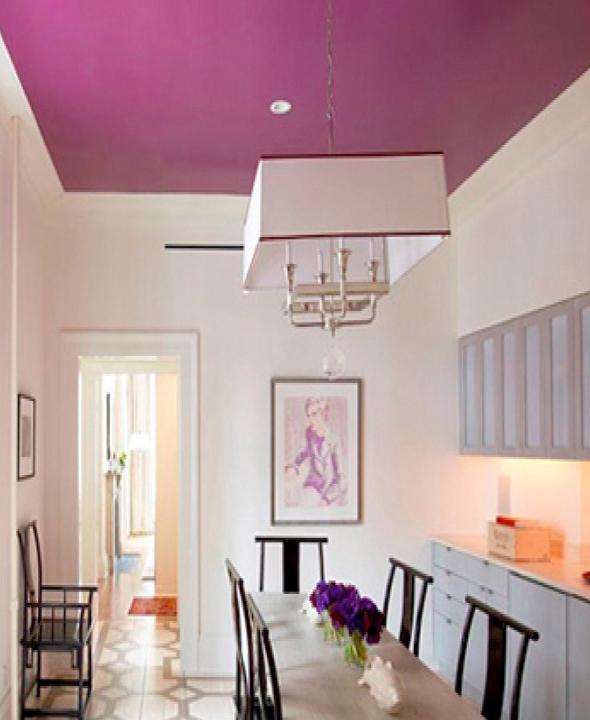 цветной навесной потолок