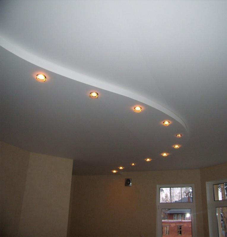 Двухуровневые потолки классика