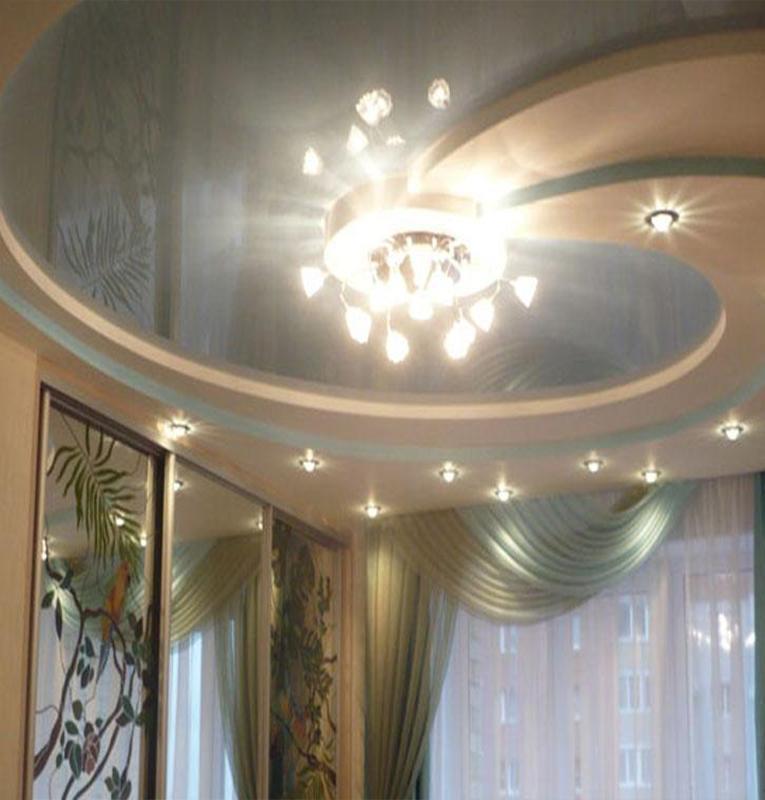 Двухуровневые потолки дизайн