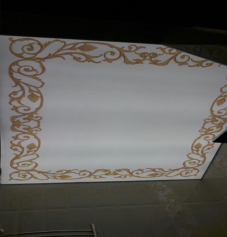 фотопечать узоры на потолке