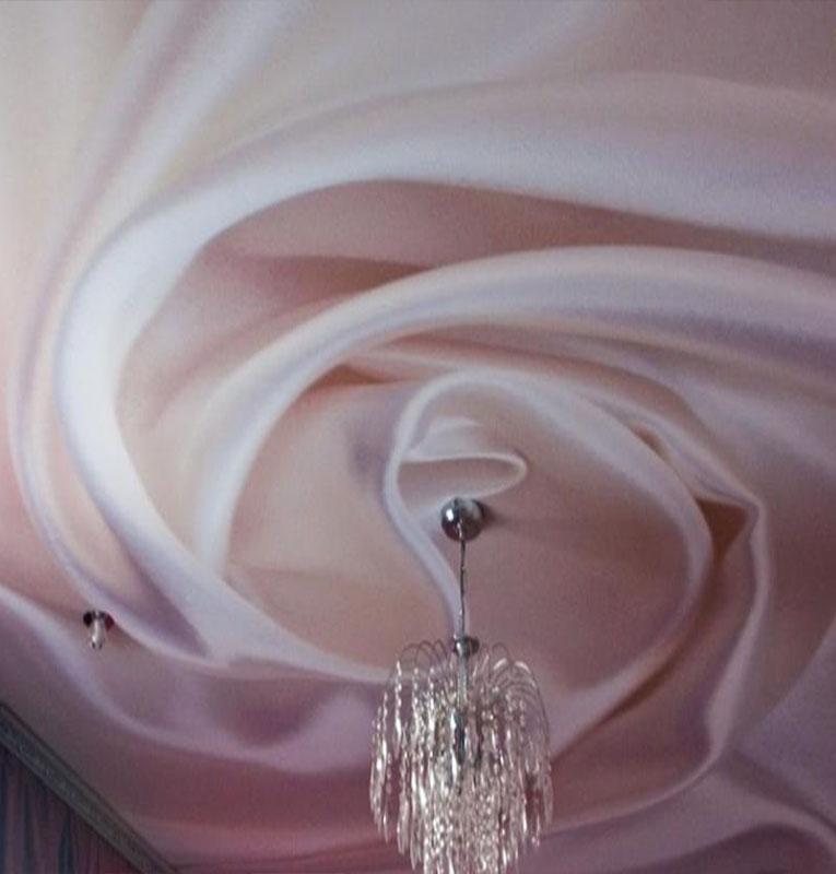 Фотопечать шелк на потолке