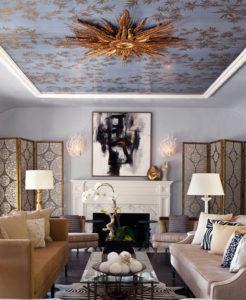 Гостиная дизайн потолка