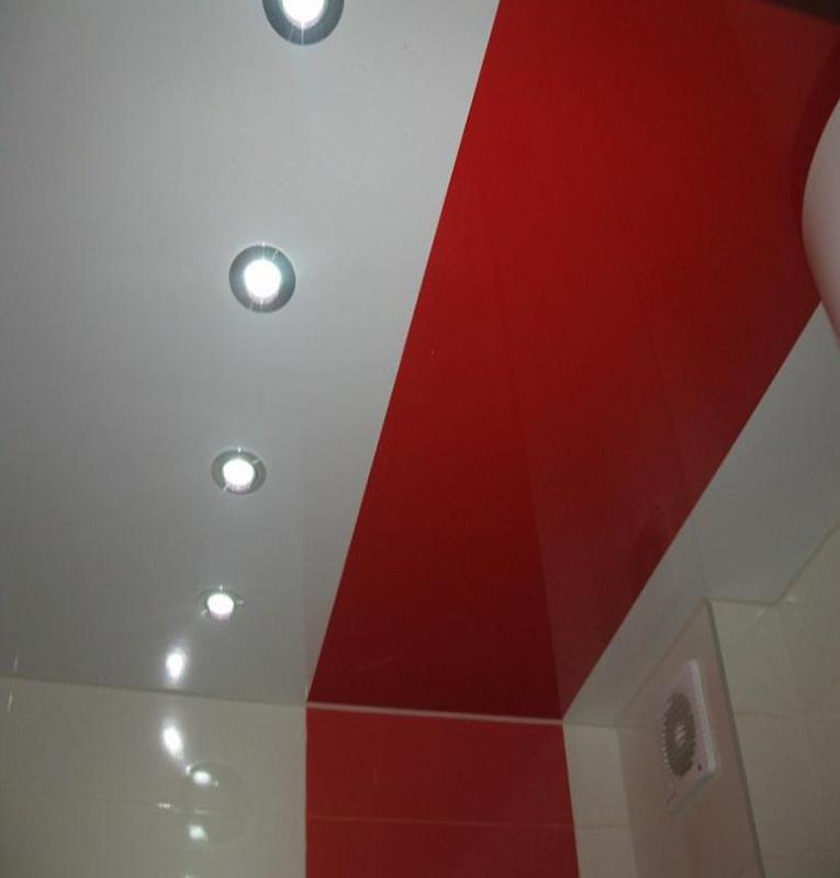 Комбинированные потолки со светильниками
