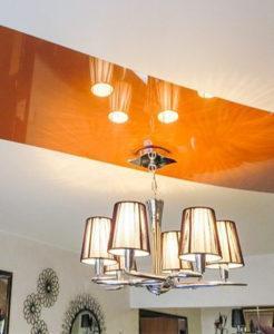 Комбинированный потолок натяжной