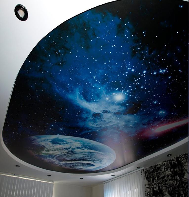 потолок в стиле космоса