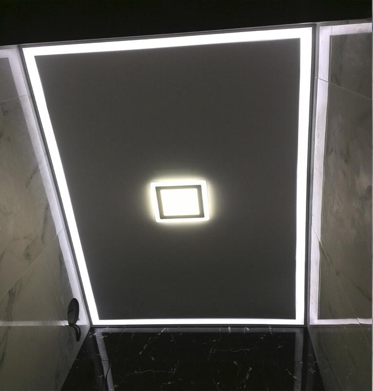 подсветка потолка в туалете