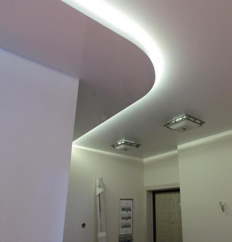 Подсветка потолка в коридоре