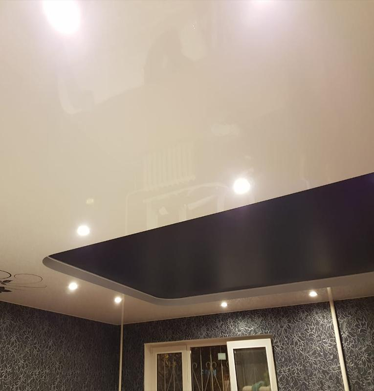 спальня потолок натяжной