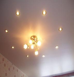 Тканевые потолки со встроенным освещением