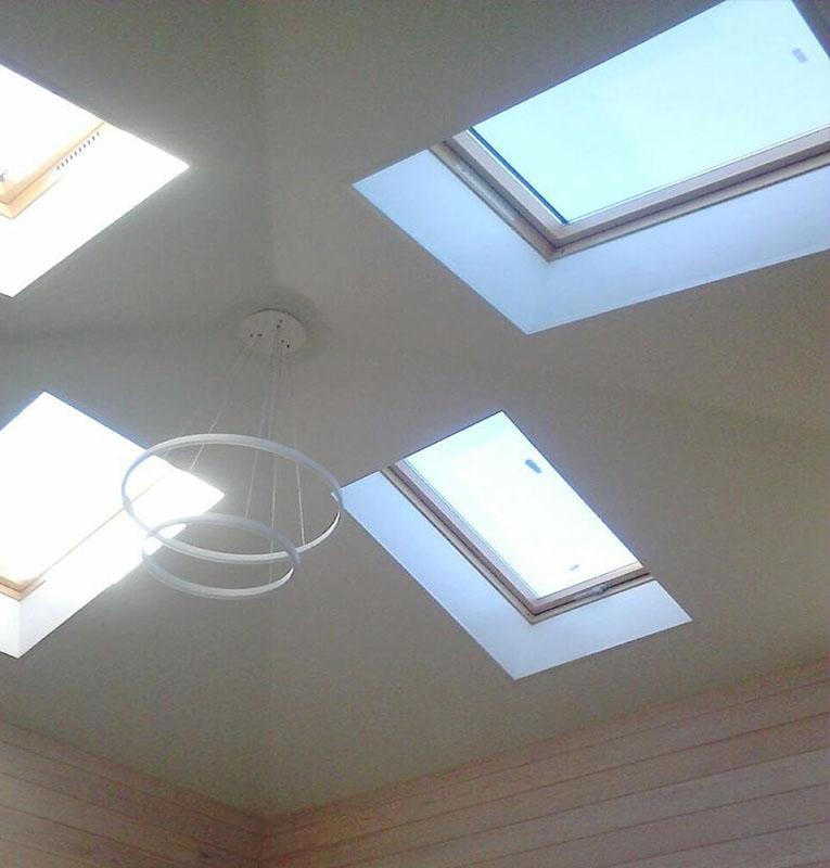 Тканевые потолки на мансарде