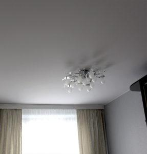 Тканевые потолки белые классика