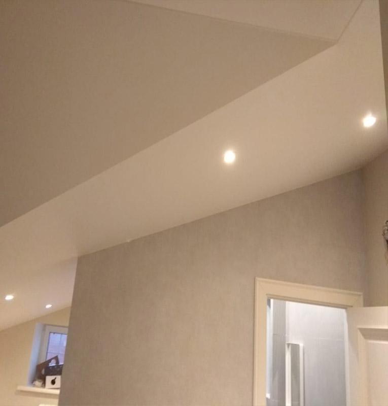 Тканевые потолки в помещении
