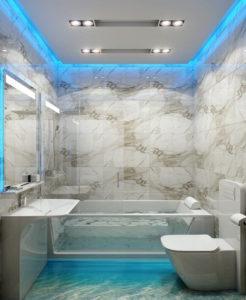 ванная потолок стильный