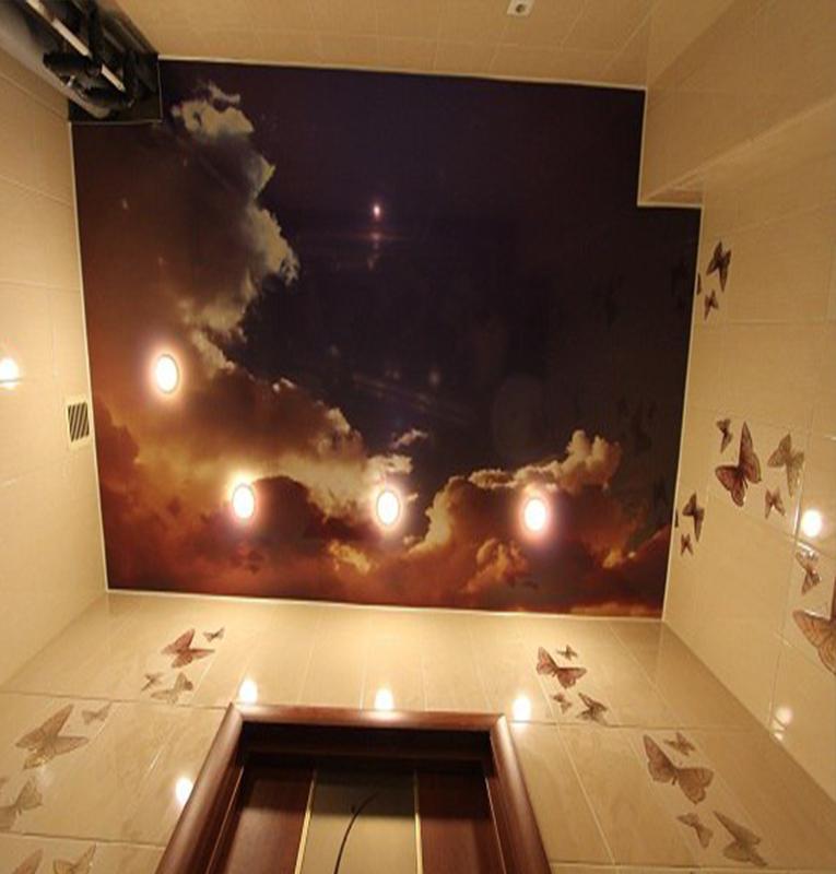 Ванная потолок небеса