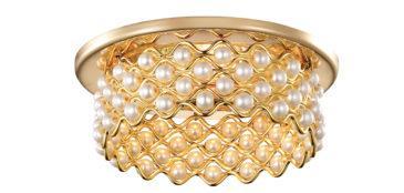 Встраиваемый светильник Novotech Pearl (gold)
