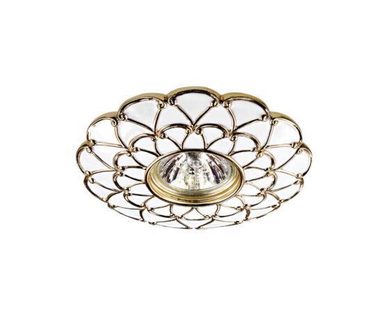 Встраиваемый светильник Novotech Pattern (белый/золото)