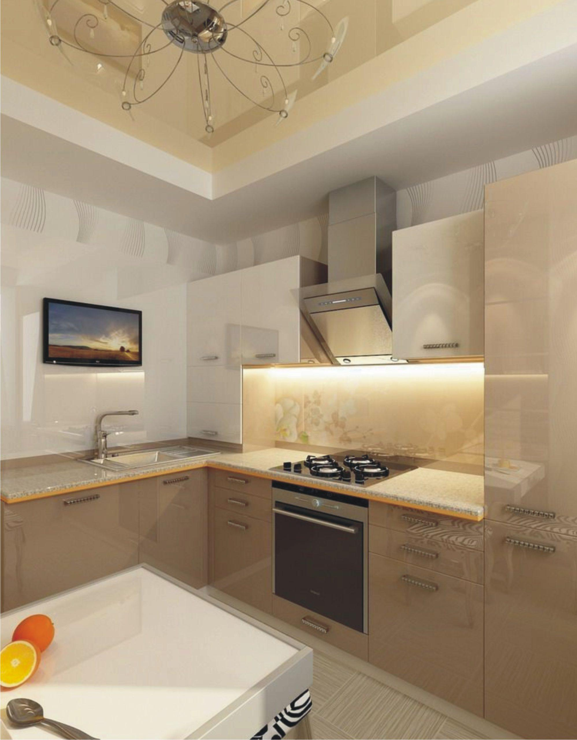 Цветной потолок в кухню MSD глянцевый