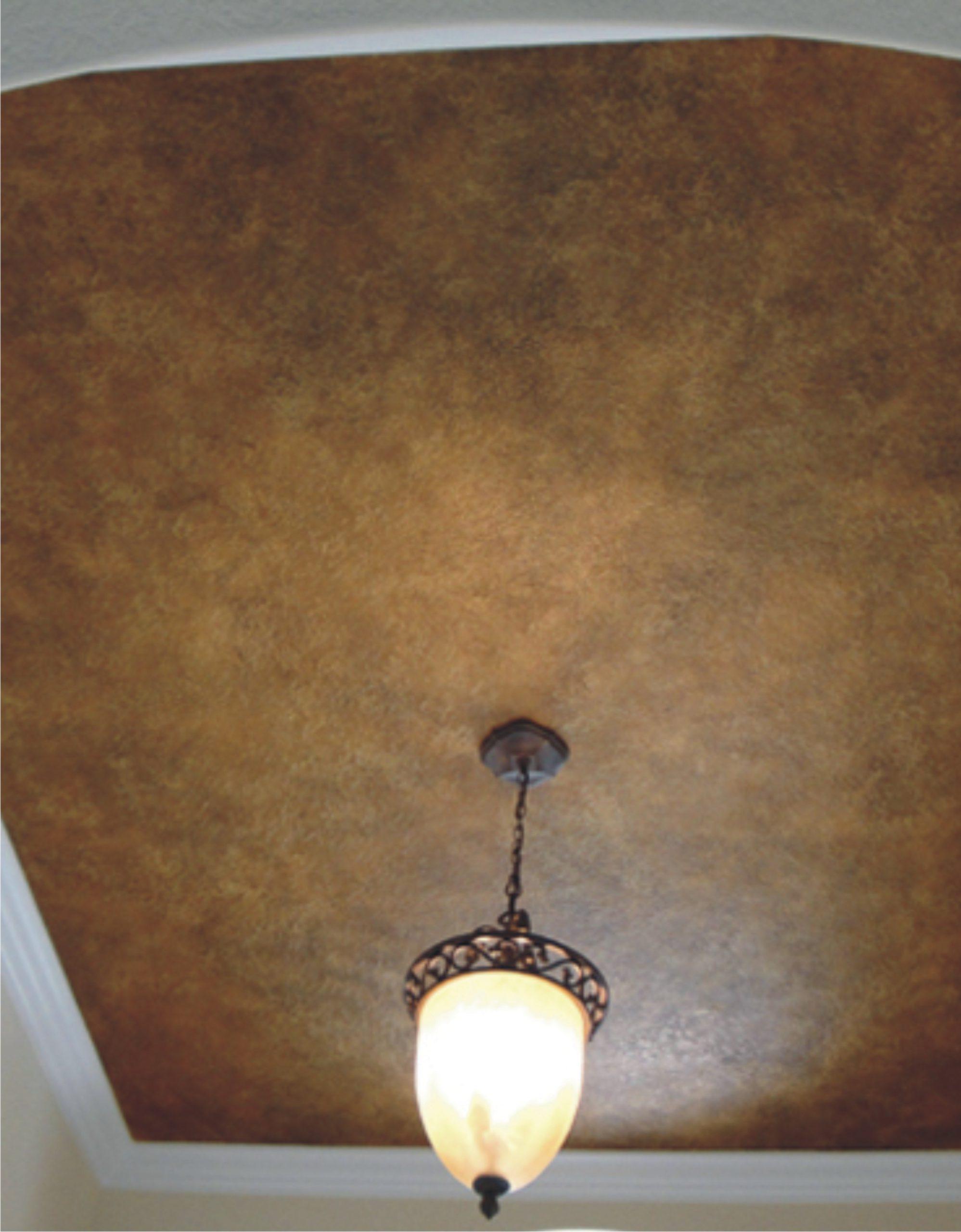 Декоративный фактурный подвесной потолок в кабинет Кожа