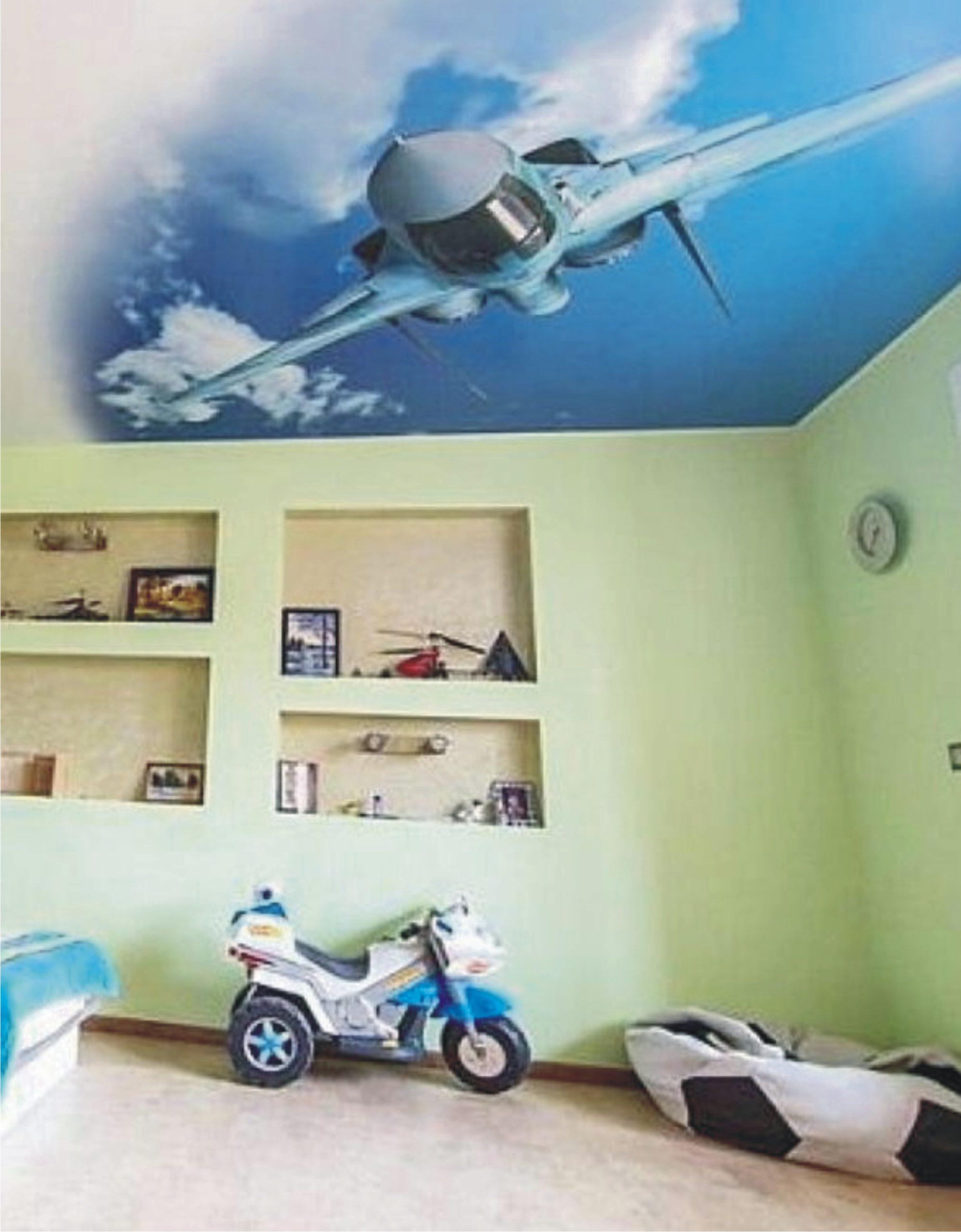 потолок в стиле неба в детской