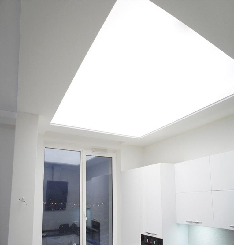 Светопрозрачные потолки кухня