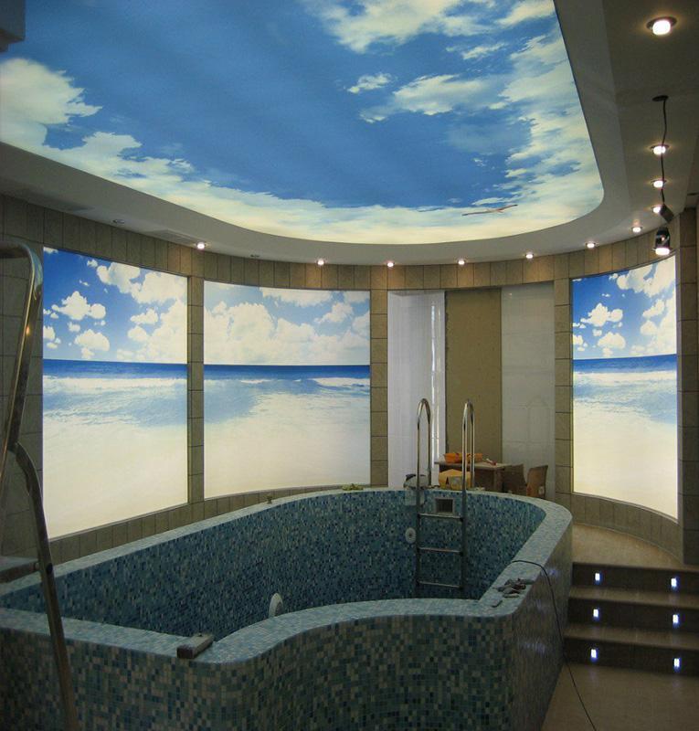 Светопрозрачные потолки небо